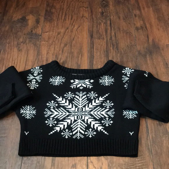 Nasty Gal Sweaters - Cropped Christmas Sweater